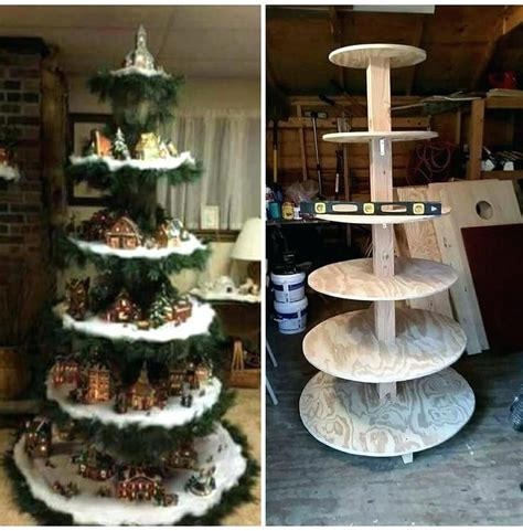 Christmas Village Tree Stand Diy Crafts