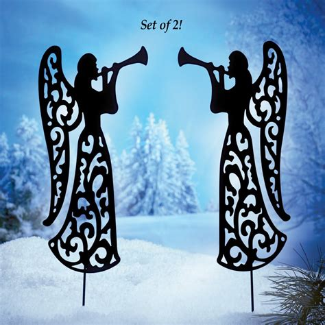 Christmas Yard Art Silhouettes