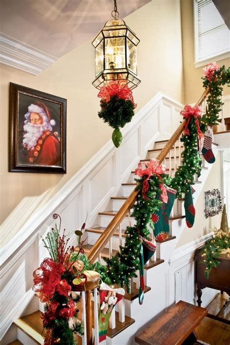 Related image: Christmas Staircase Decorations
