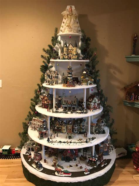 Christmas-Village-Tree-Shelf-Plans