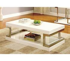 Best Chrome and white designer coffee table