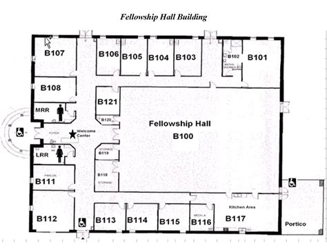 Church Construction Plans With Fellowship Halls