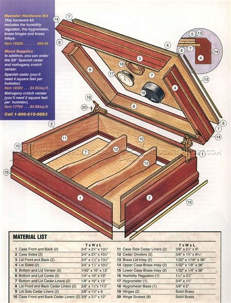 Cigar Box Woodworking Plans
