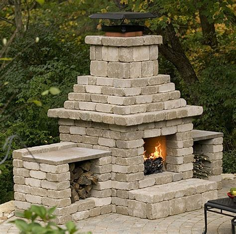Cinder-Block-Outdoor-Fireplace-Plans