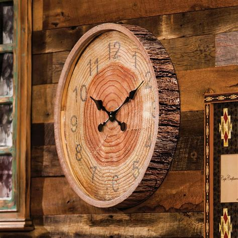Circle Wood Clock With Numbers Diy Crafts