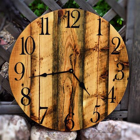 Circle-Wood-Clock-With-Numbers-Diy