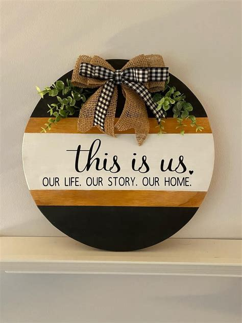 Circular Wood Signs Diy For Baby