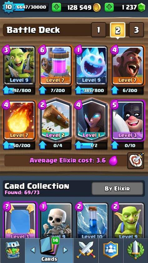 Clash Royale Deck Builder Arena 10
