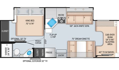 Class-C-Rv-Floor-Plans-With-King-Bed