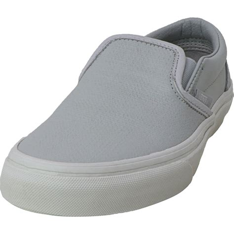Classic Slip On (Embossed Leather) Glacier Grey Women's 10