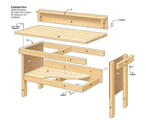 Classic-Diy-Workbench-Plans-Cut-List