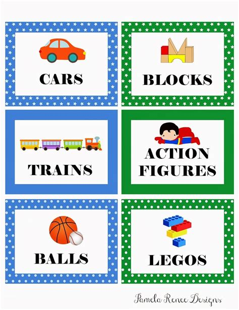 Classroom Storage Labels Images