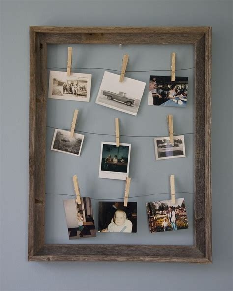 Clothespin Picture Frame Diy Wood