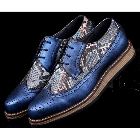 Clyde Sock Mens Blue Leather Lace up Sneakers Shoes