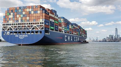 Cma Cgm New Jersey Container Ship And Cold Shipping Container In Kc