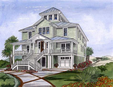 Coastal-House-Plans-With-Cupola