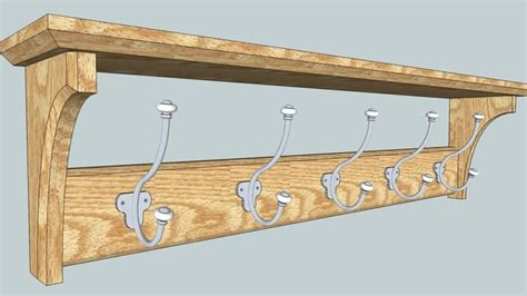 Coat-Hanger-With-Shelf-Plans
