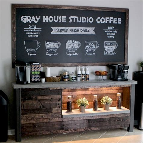 Coffee Bar Woodworking Plans