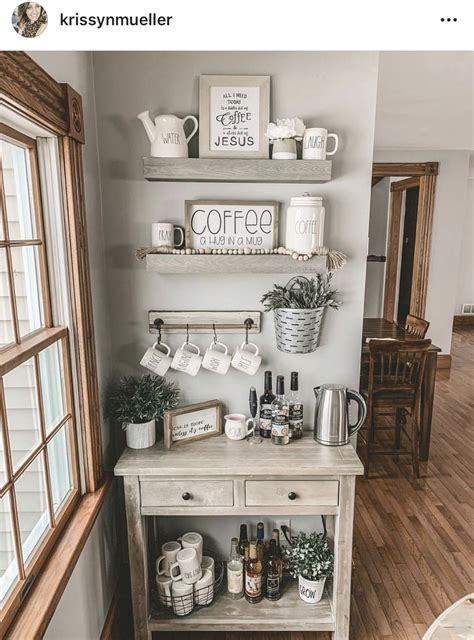 Coffee Station Decor Ideas For Kitchen