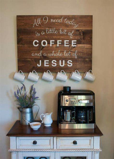 Coffee Station Table Diy Ideas