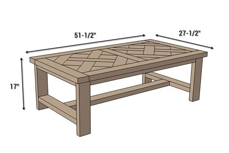 Coffee Table Dimensions Diy