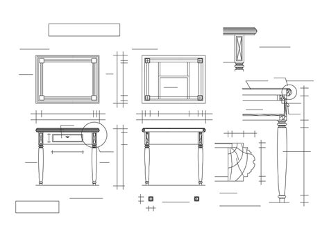 Coffee Table Dimensions Plans Elevation