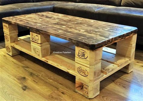 Coffee Table Made Of Pallets Diy