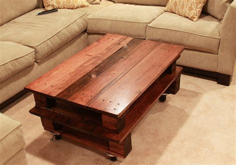 Coffee Table Made Out Of Pallets Diy