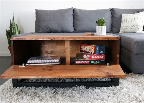 Coffee Table Storage Diy Room