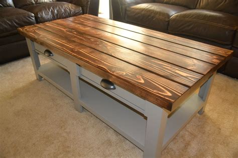 Coffee Table With Drawers DIY