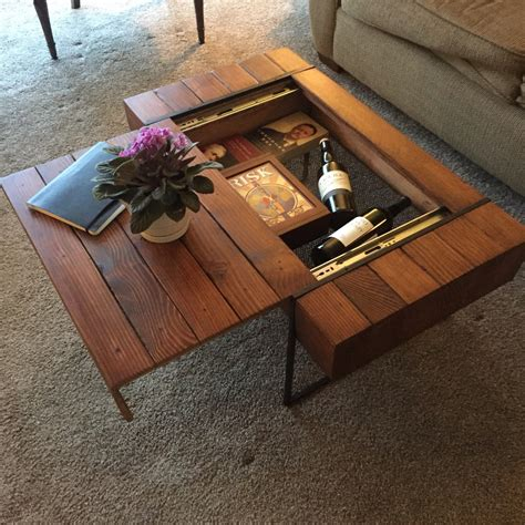 Coffee Table With Hidden Storage Diy