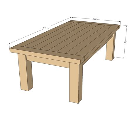 Coffee table plans wood free Image