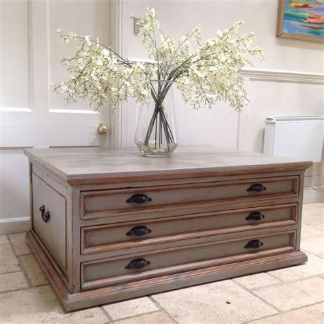 Coffee-Table-With-Drawers-Plans