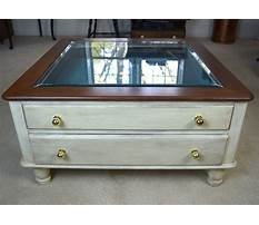 Best Coffee table glass top display drawer