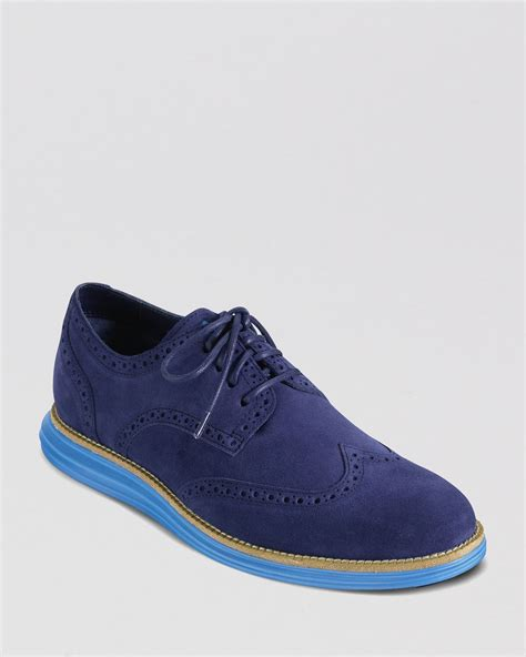 Cole Haan Oxford Sneaker Blue Laces Striped