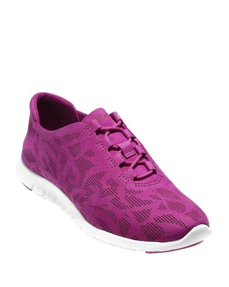 Cole Haan Pink Leather Sneakers