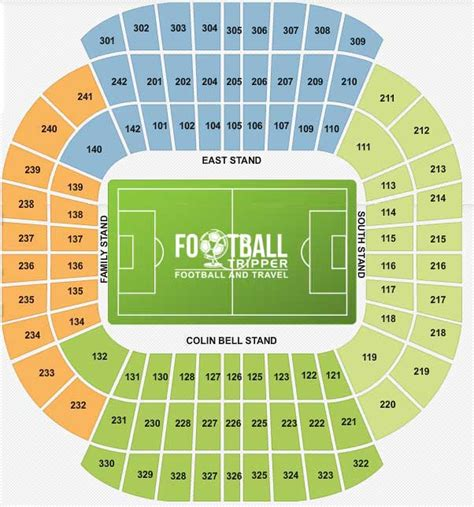 Colin Bell Stand Seating Plan