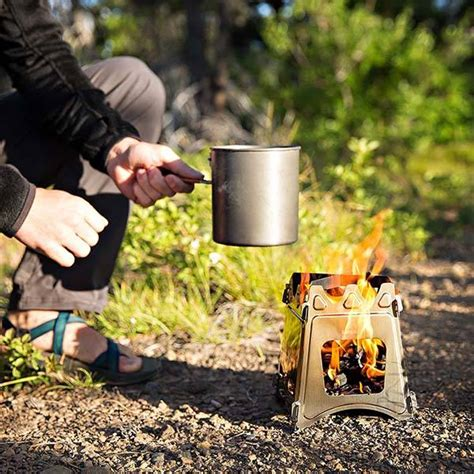 Collapsible Wood Burning Backpacking Stove Diy Fire