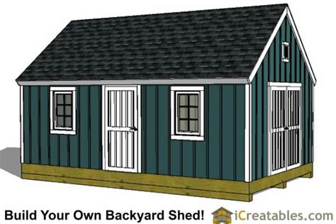 Colonial-Shed-Plans-12x16