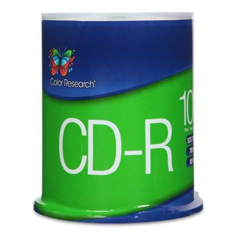 Color Research Cake Box CD-R 100-Pack