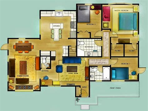Color-Floor-Plan-Furniture