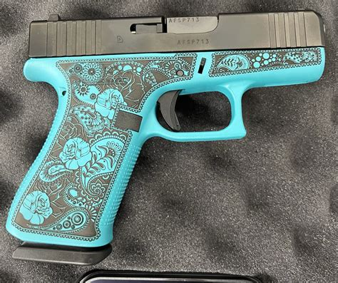 Colored Glock Frames And Ez Shield Paint Protector