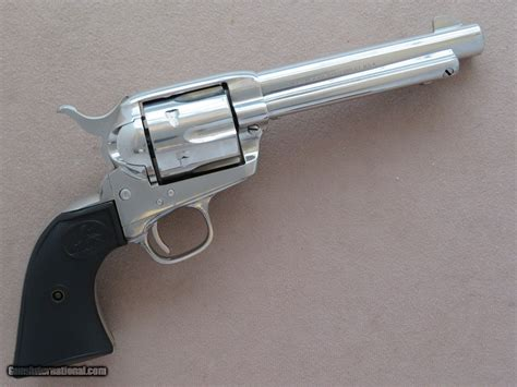 Colt Single Action Army Nickel 38 Special 5-1 2 Barrel .
