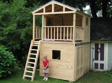 Combination Shed Playhouse Plans