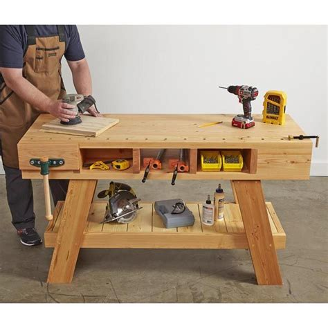 Compact-Woodworking-Workbench