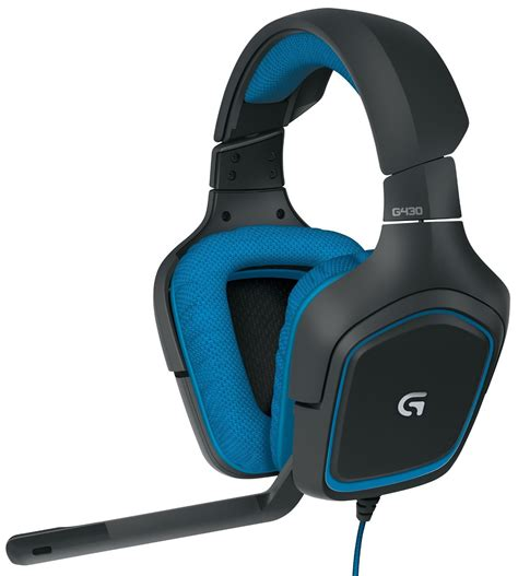 Computer Gaming Headset, Logitech G430 Pc Mic Laptop Wired Gaming Headset, Blue