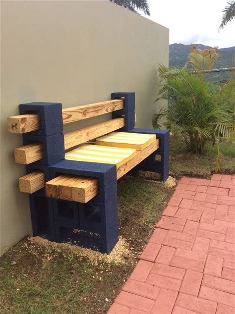 Concrete And Wood Bench Diy Pallet