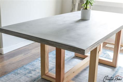 Concrete And Wood Dining Table Diy Wood