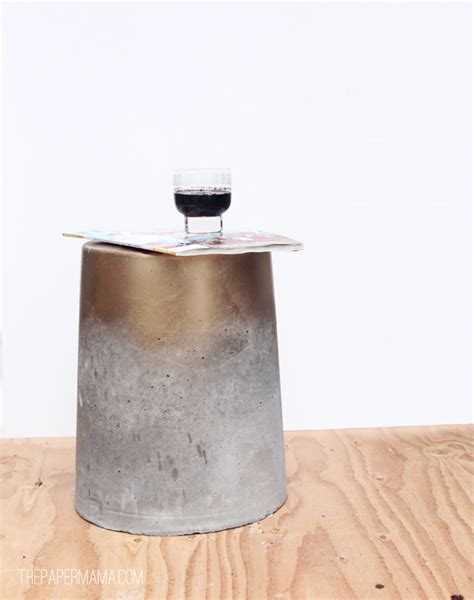 Concrete End Table Diy