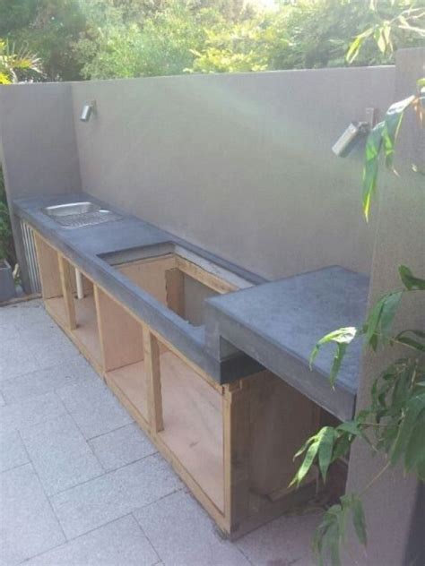 Concrete Kitchen Bench Diy Outdoor